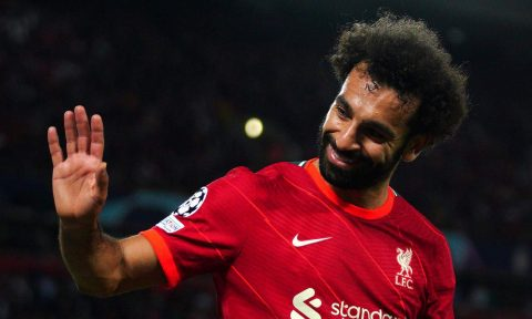 Mohamed Salah, Liverpool, is feaured in the Brentford v Liverpool betting tips